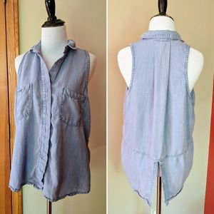 Cloth & Stone Anthropologie sleevless chambray top